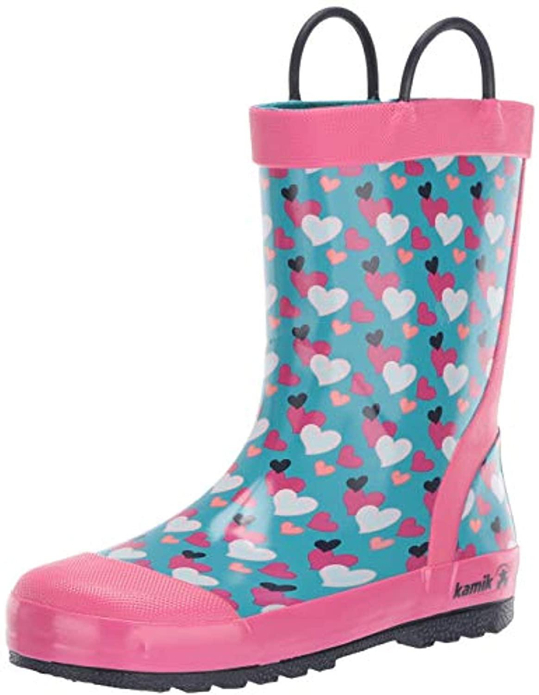 rain boots Bundle: Kamik Youth Lovely Rain Boots & Umbrella