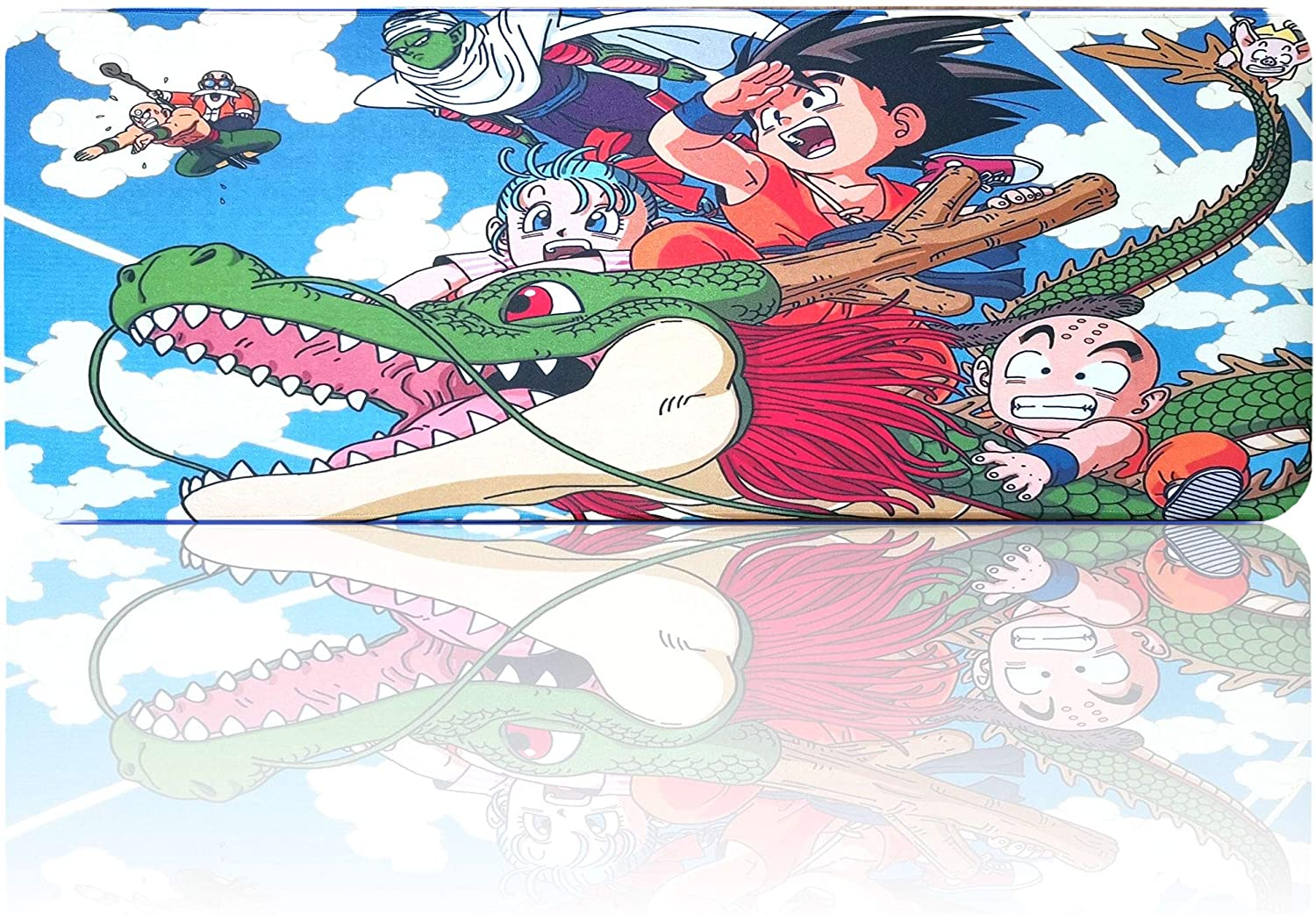 Dragon Ball Mouse Pad Extended Large Gaming Anime Mousepad,Non-Slip Water-Resistant Rubber Cloth Mouse Mat(31.5