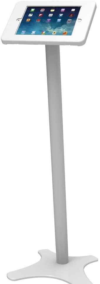 Beelta iPad Floor Stand Kiosk - 360 Swivel for iPad 5th/6th,iPad Pro 9.7,Air 1,Air 2,Anti-Theft,Key Lock,Metal,White,BSF301W