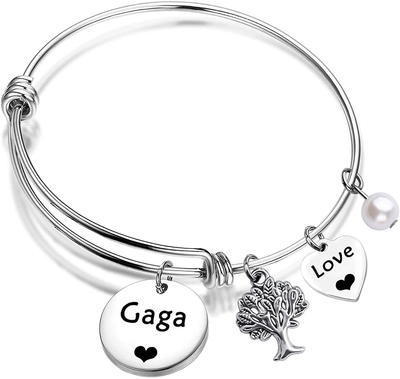 ENSIANTH Gaga Bracelet Gaga Jewelry Best Gaga Ever Jewelry Grandma Gifts for Mother's Day