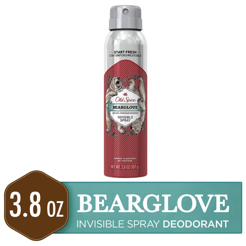 Old Spice Antiperspirant and Deodorant for Men, Invisible Spray, Bearglove, Apple, Citrus, & Spice Scent, 3.8 Oz
