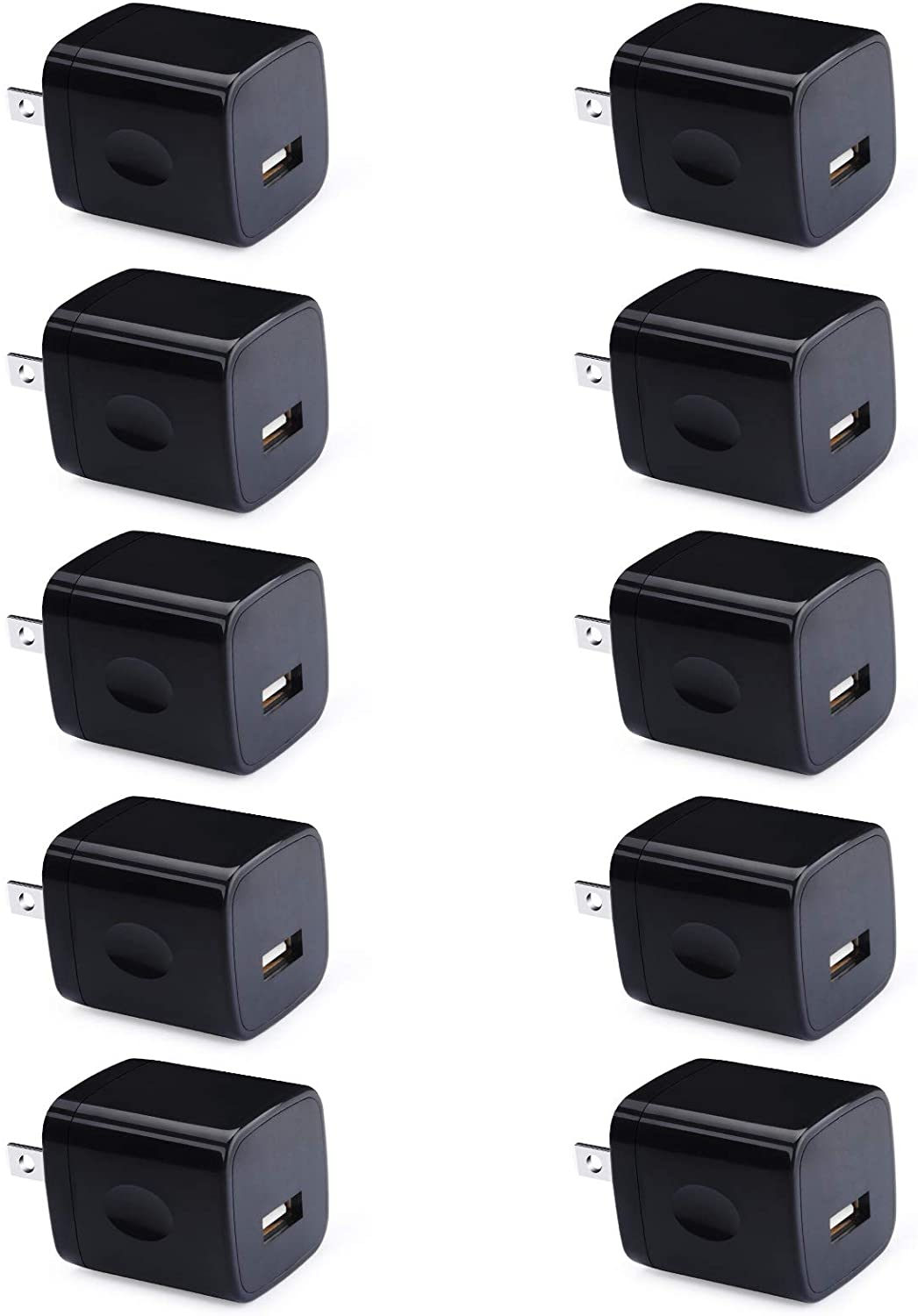 Charger Adapter, UorMe 1A 5V 10 Pack Single Port Wall Charger Power Adapter Cube Block Box Compatible iPhone SE (2020) 11 Xs XR X 8 7 6S 6, Samsung Galaxy A20 A71 A51 A31 M51 S10e S9 S8, LG V70 V35 G6