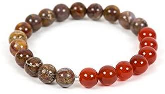 AAA++ Rare Quality Carnelian Bracelet, Pietersite Bracelet, High Energy Bracelet, Handmade Jewelry, Gemstone Bracelet, Gemstone Jewelry, energy 8mm Code- WAR1079