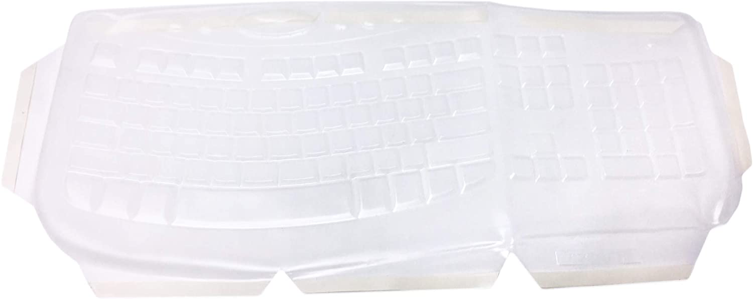 Viziflex Biosafe Anti Microbial Keyboard Cover Compatible with Microsoft Comfort Curve 2000 Model 1047, KU0459 -Part: A.M.879E113- Keyboard not included