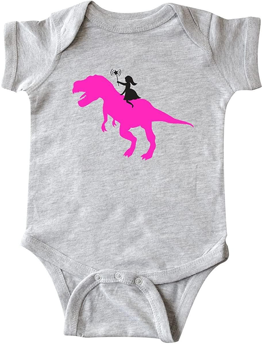 inktastic Princess Riding Her T-Rex Infant Creeper
