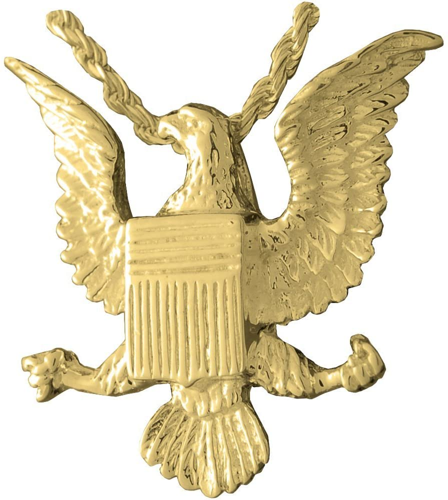 Memorial Gallery 3047gp Eagle Badge 14K Gold/Sterling Silver Plating Cremation Pet Jewelry
