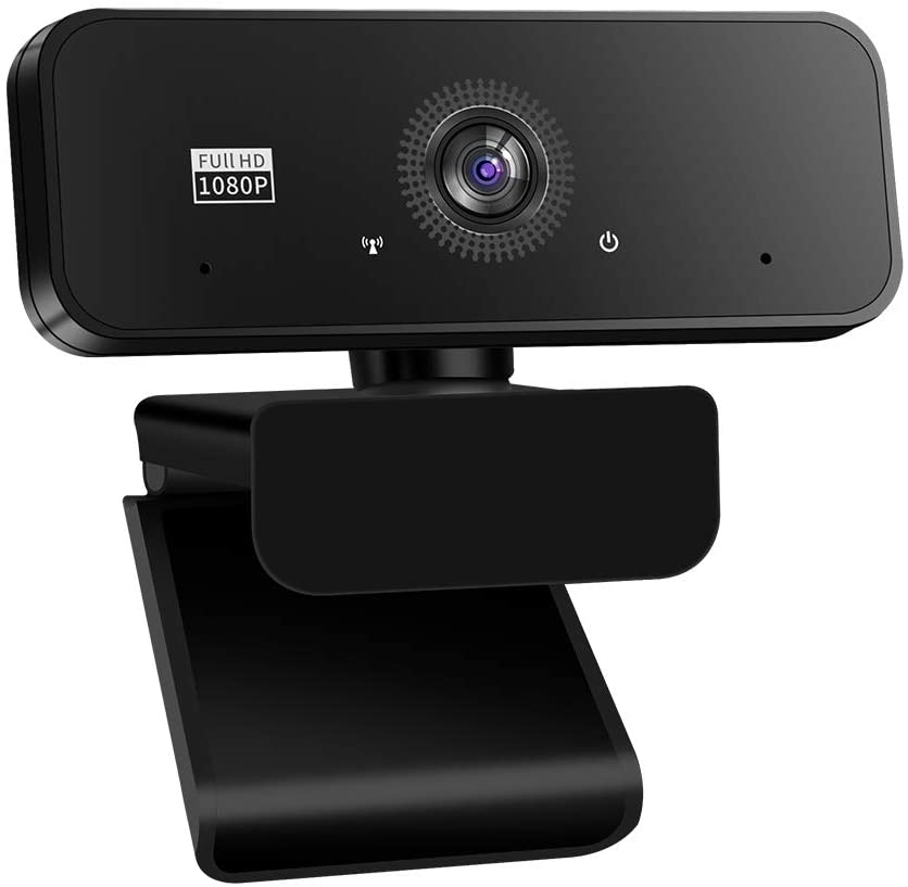 1080P Webcam with Microphone and Privacy Cover, Yeoman USB 2.0 Desktop Laptop Computer Web Camera with Auto Light Correction,Noise Reduction,Plug and Play,for Online Classes,Video Streaming