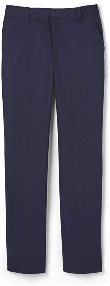 French Toast Boys' Adjustable Waist Relaxed Fit Pant (Standard & Husky), Navy, 6 Slim