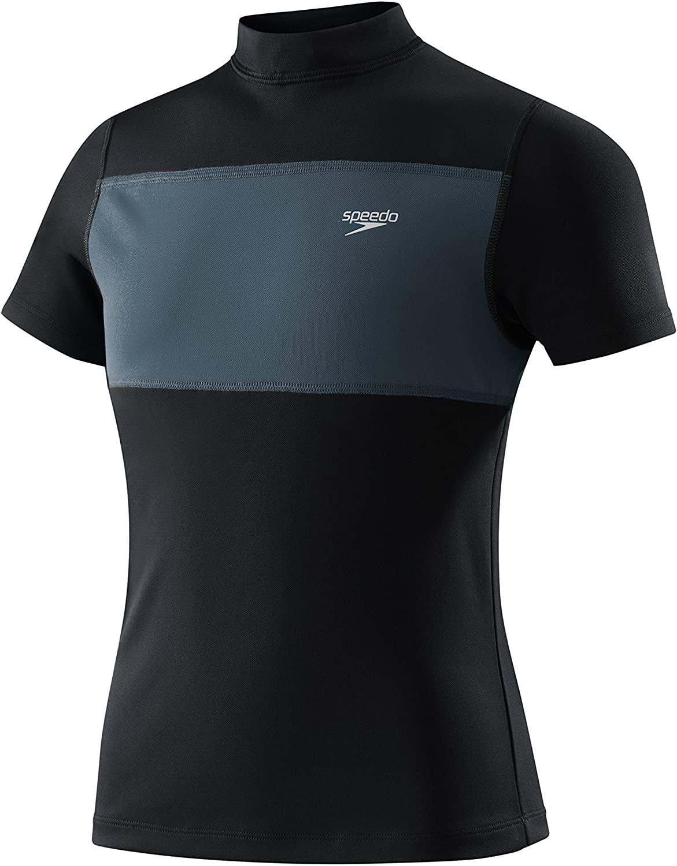 Speedo Boy's Uv Swim Shirt Short Sleeve Tee Color Blocked