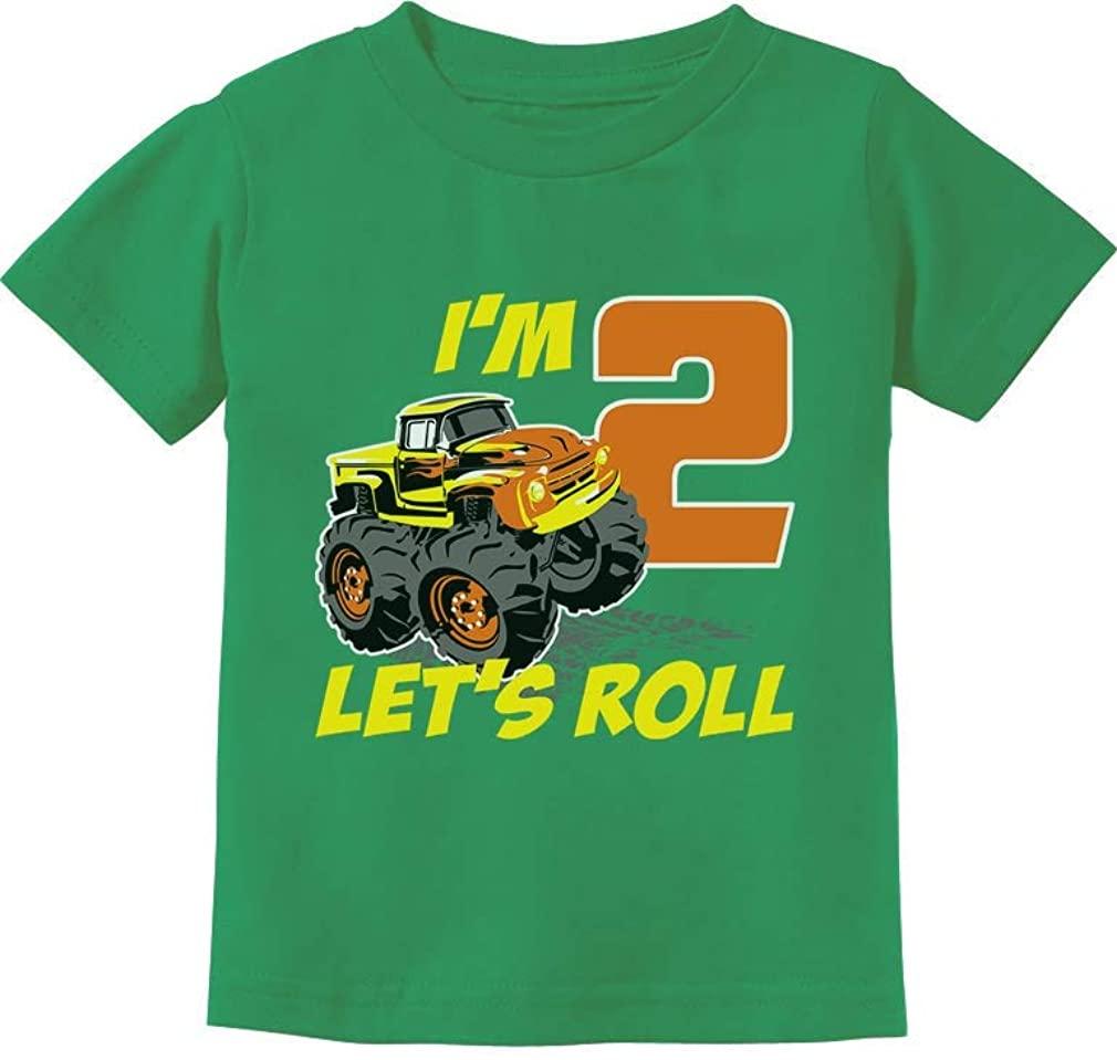 Birthday Gift for 2 Year Old Boy Truck 2nd Birthday Boys Toddler Kids T-Shirt