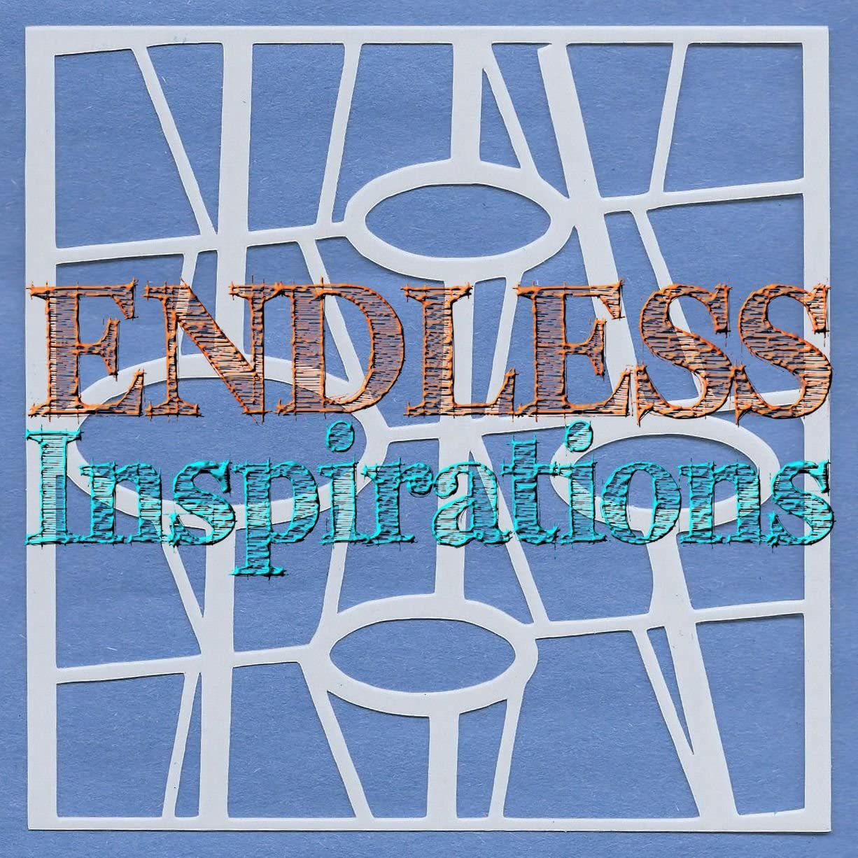 Redbird Inspirations Original Stencil, 6x6 Inch, 50s Abstract