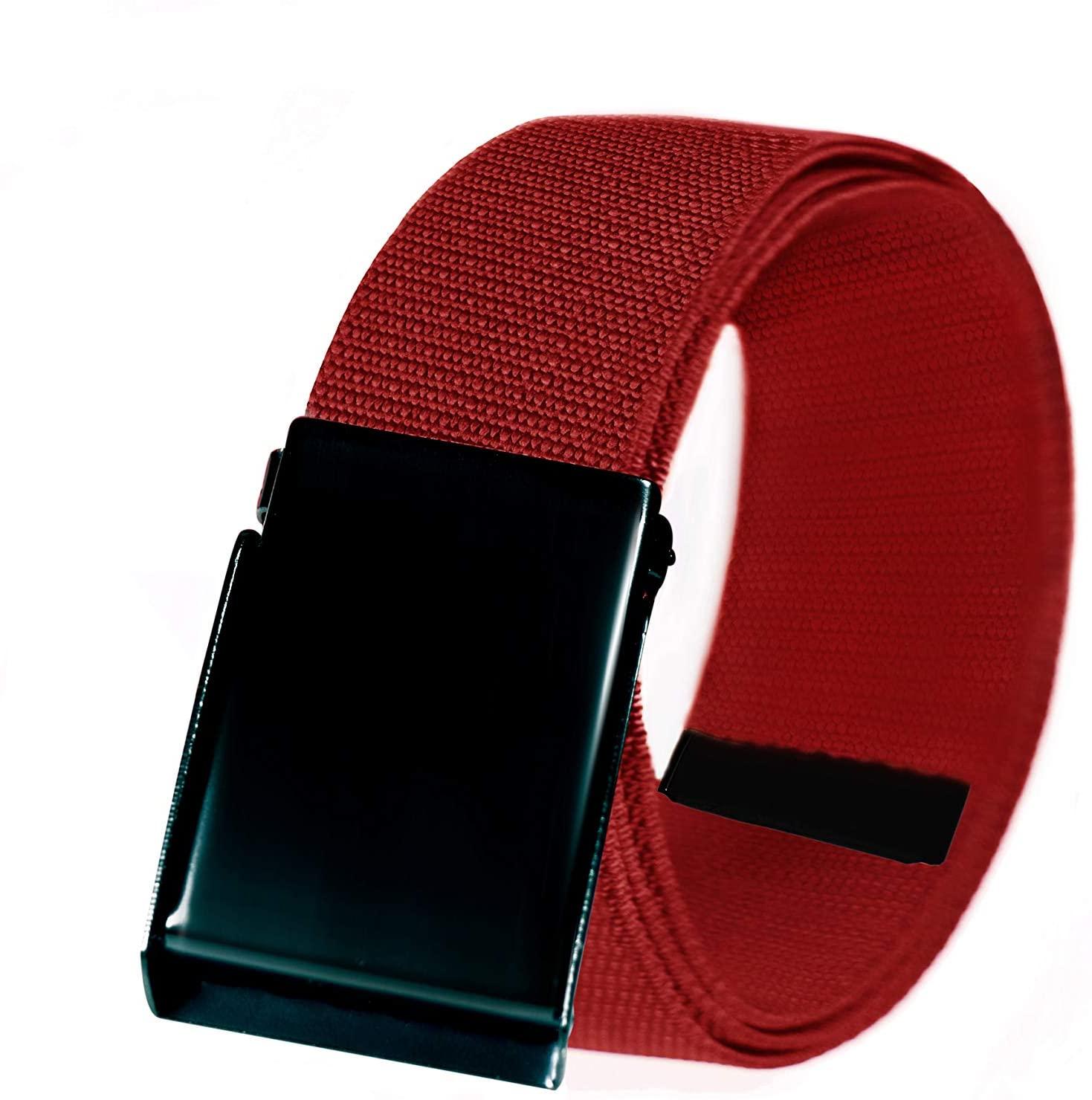 IWTBWYED Men's & Boys' Canvas Belts - Adjustable Canvas Belts (Crimson)