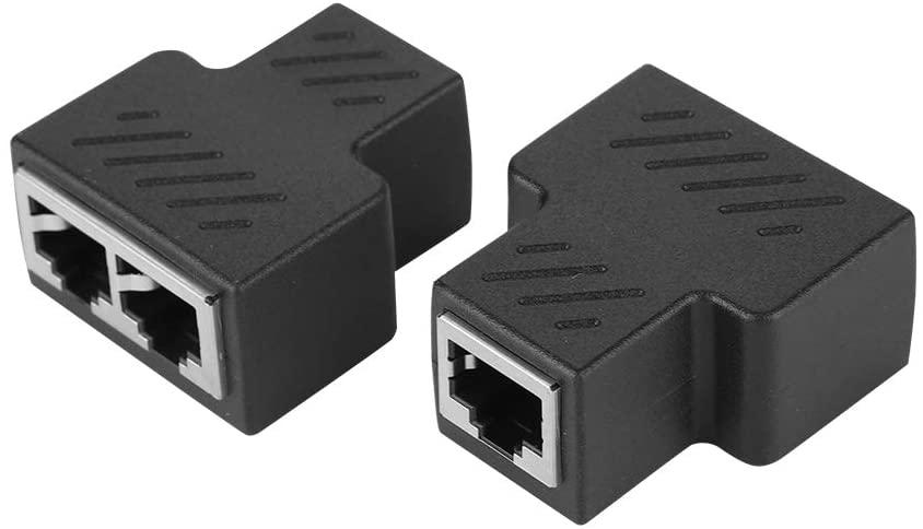 Cuifati Network Splitter,2PCS 3.5MM Male 3-Channel Network Splitter,Both Ends are RJ45 Eight-core Standard Jack,Durable