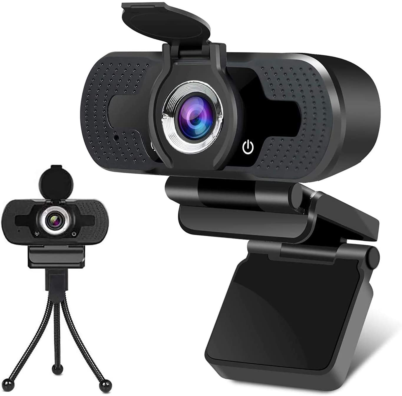 1080P Webcam for PC Laptop Desktop, Streaming Webcam with Microphone, Computer Video Camera Skype Webcam Compatible with Windows Mac Android Chrome Linux