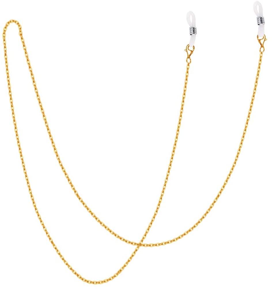 UnderTheRose Fashion Mask Lanyard for Kids 18K Gold Plated Eyeglass Chain Necklace Mask Holder Chain Strap Breakaway Lanyard for Women Girl Boy