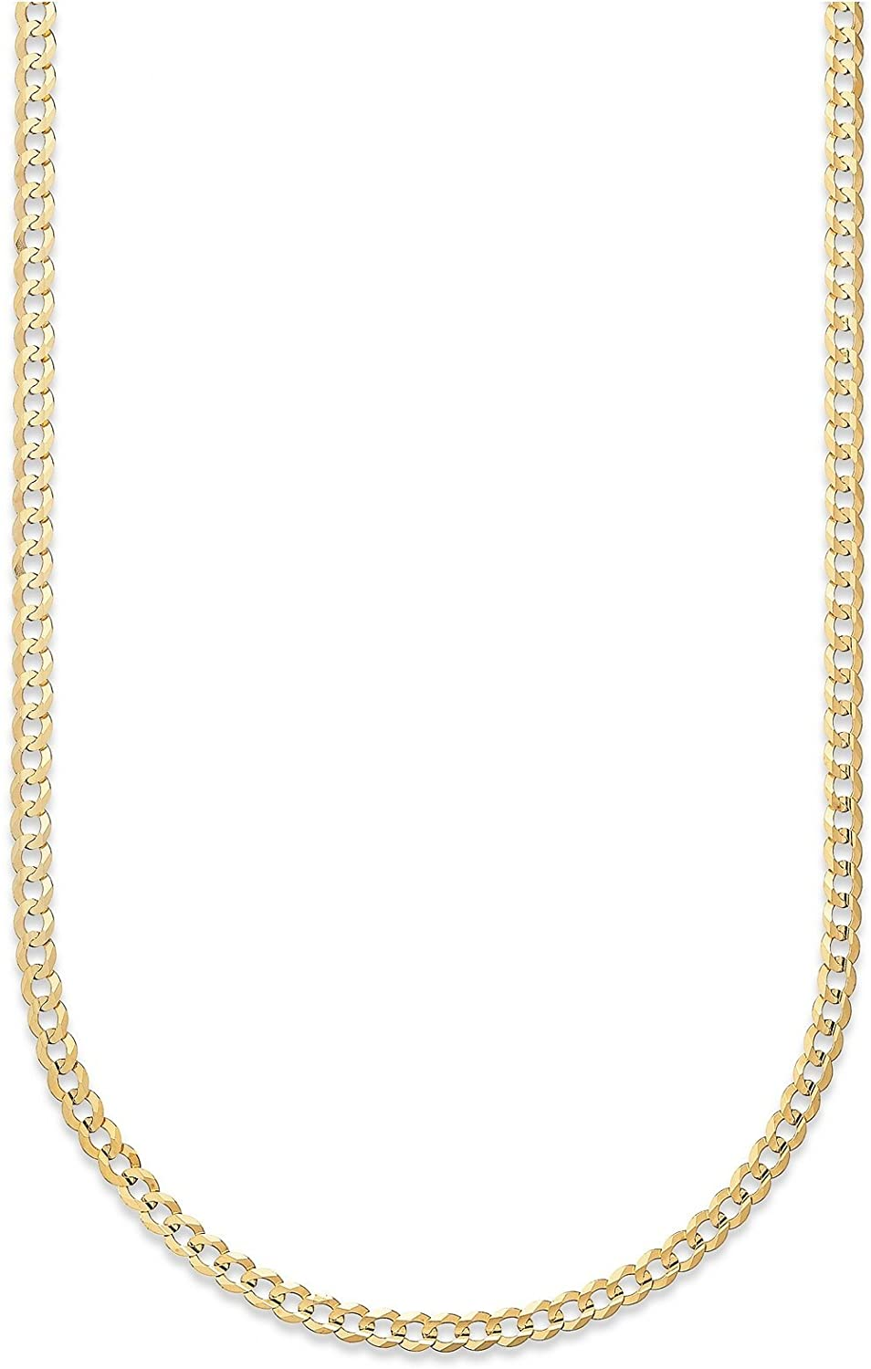 14K Gold 2.5MM, 3.5MM, 4MM, 5MM, 6.5MM, 7.5MM, 9MM Cuban/Curb Chain Necklace and Bracelet - Made In Italy - Yellow, White, Rose, Two Tone