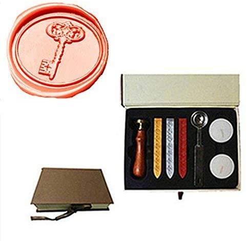 MDLG Vintage Key Custom Picture Logo Wedding Invitation Wax Seal Sealing Stamp Sticks Spoon Gift Box Set Kit