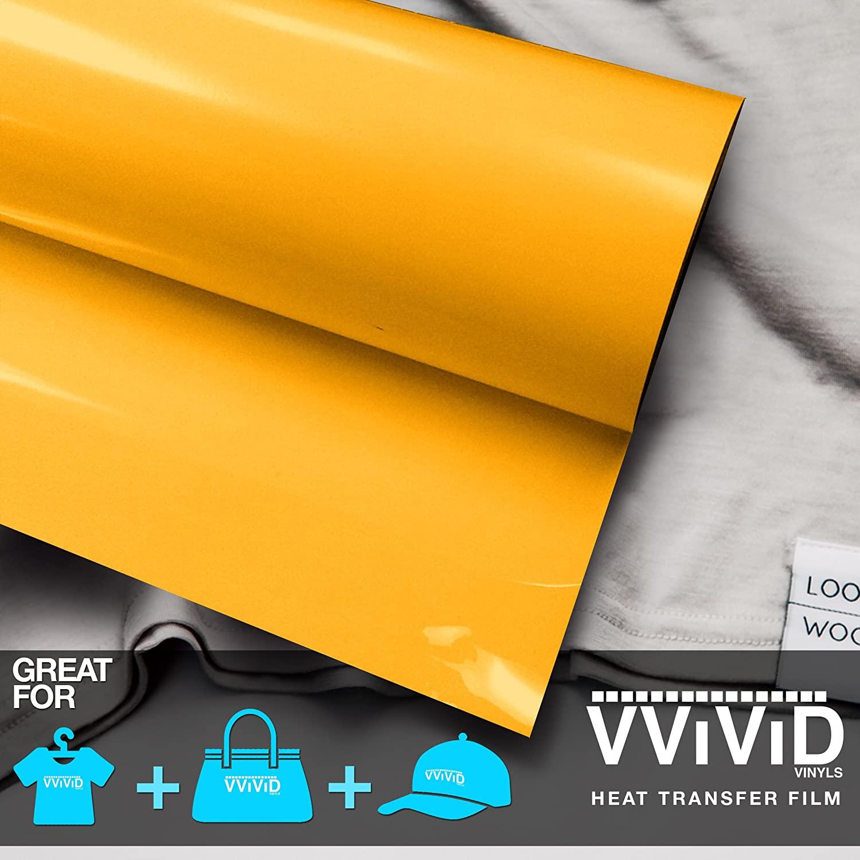 VViViD Sun Yellow Heavy-Duty Iron-on Heat Transfer Vinyl Film (12 x 15ft Roll)
