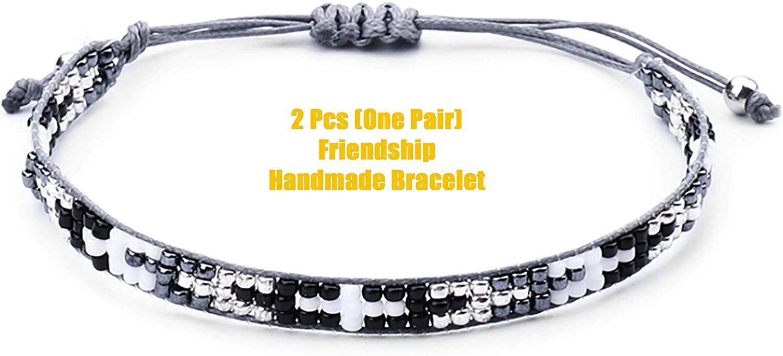 Shanzeh Wave Braided Rope Strand Bracelet Set Handmade Adjustable Friendship Bracelet Handcrafted Jewelry Women