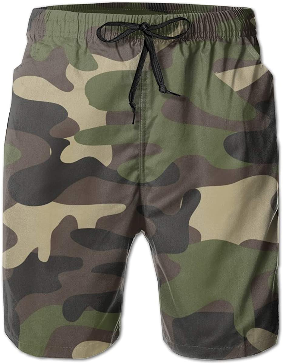 NiYoung Men Boys Beach Board Shorts Adjustable Drawstring Quick Dry Bathing Suit