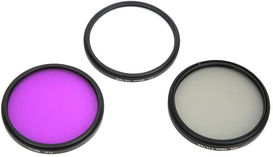 Vbestlife 58mm Lens Filter Set, UV + CPL + FLD Optical Glass Lens Filter Kit with Storage Bag for Canon for Nikon for Sony DSLR Camera