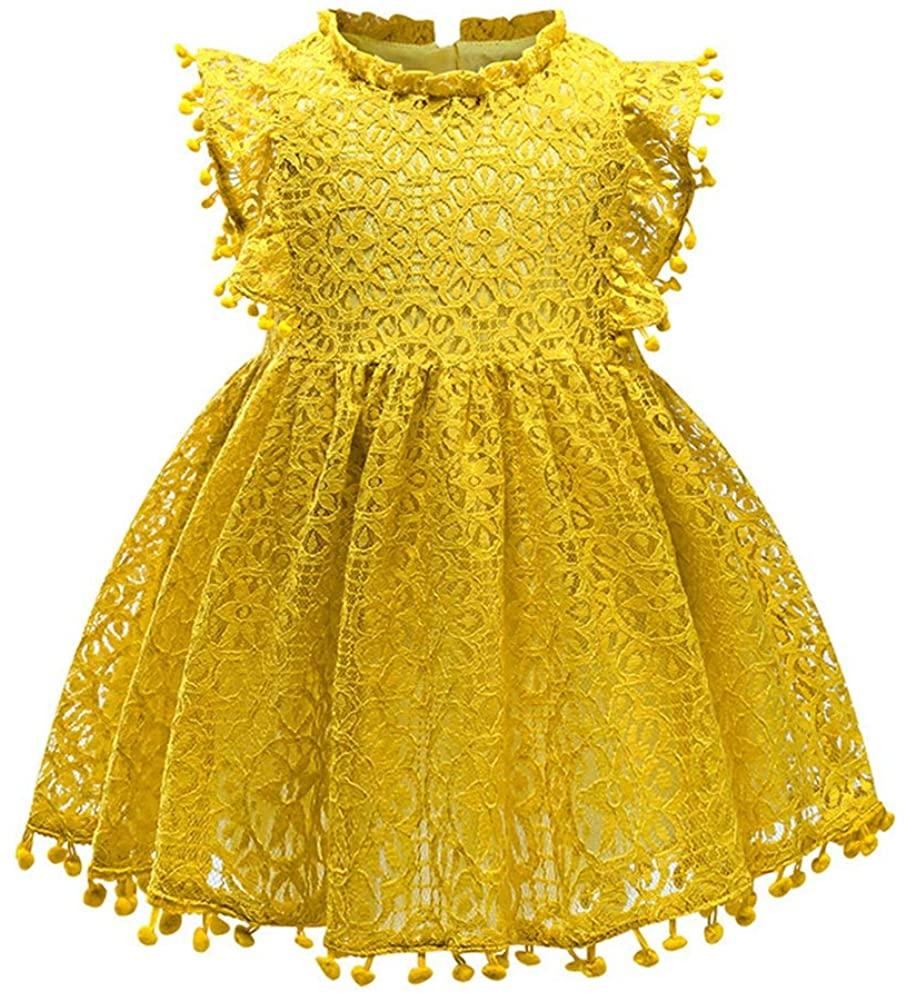 Eocom Little Girls Soft Spring Summer Cotton Short Sleeve Dresses T-Shirt Casual Cartoon Dress