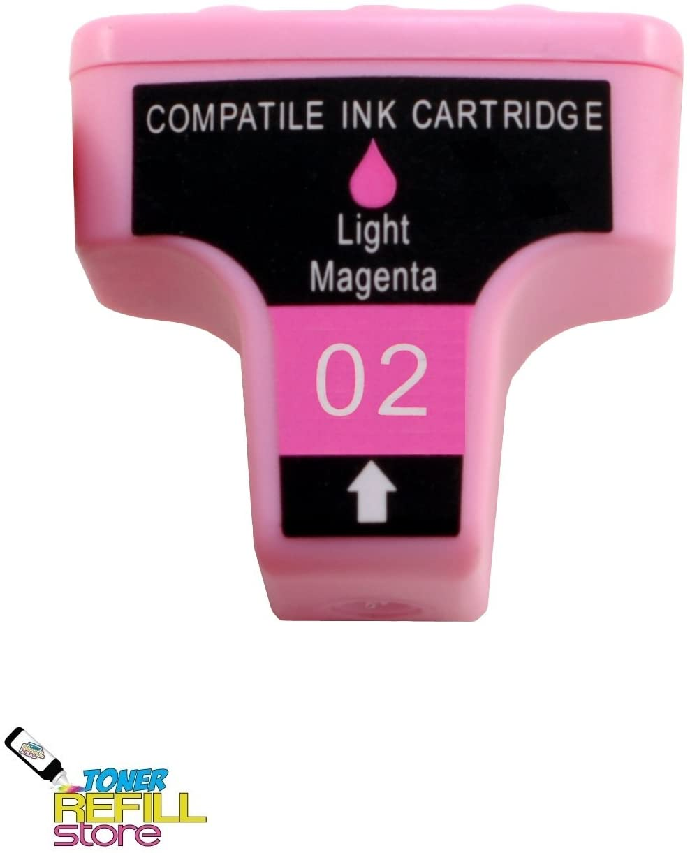 Toner Refill Store Compatible HP 02 Ink Cartridge Replacement for the HP C8775WN (Light Magenta, 1-Pack)
