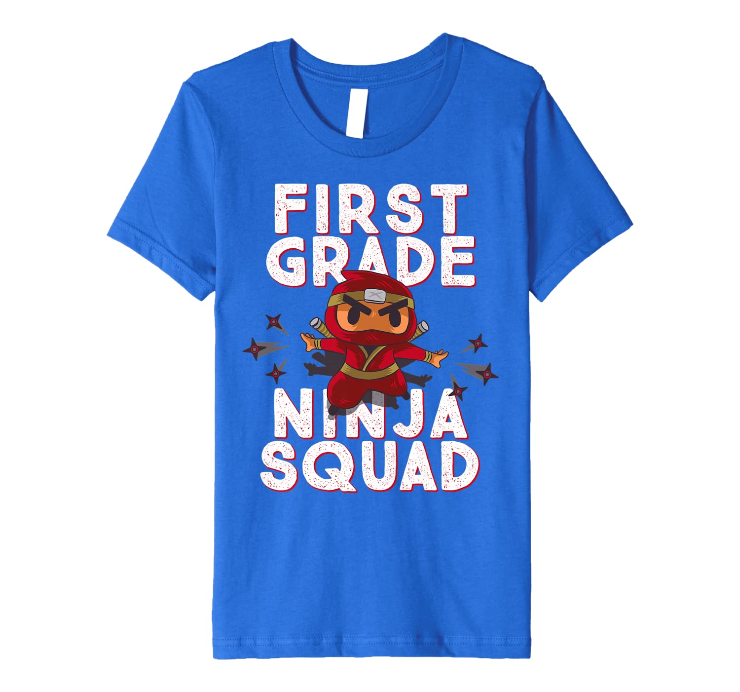 Kids 1st Day Of School FIRST GRADE NINJA SQUAD Funny Group Premium T-Shirt