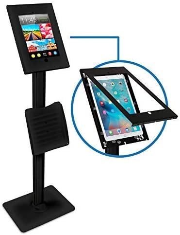 Mount-It! Anti-Theft iPad Floor Stand for iPad Pro 12.9   Secure Portable Floor Stand iPad Pro Kiosk for 1st / 2nd Gen iPad Pro 12.9 (MI-3770B-XL)
