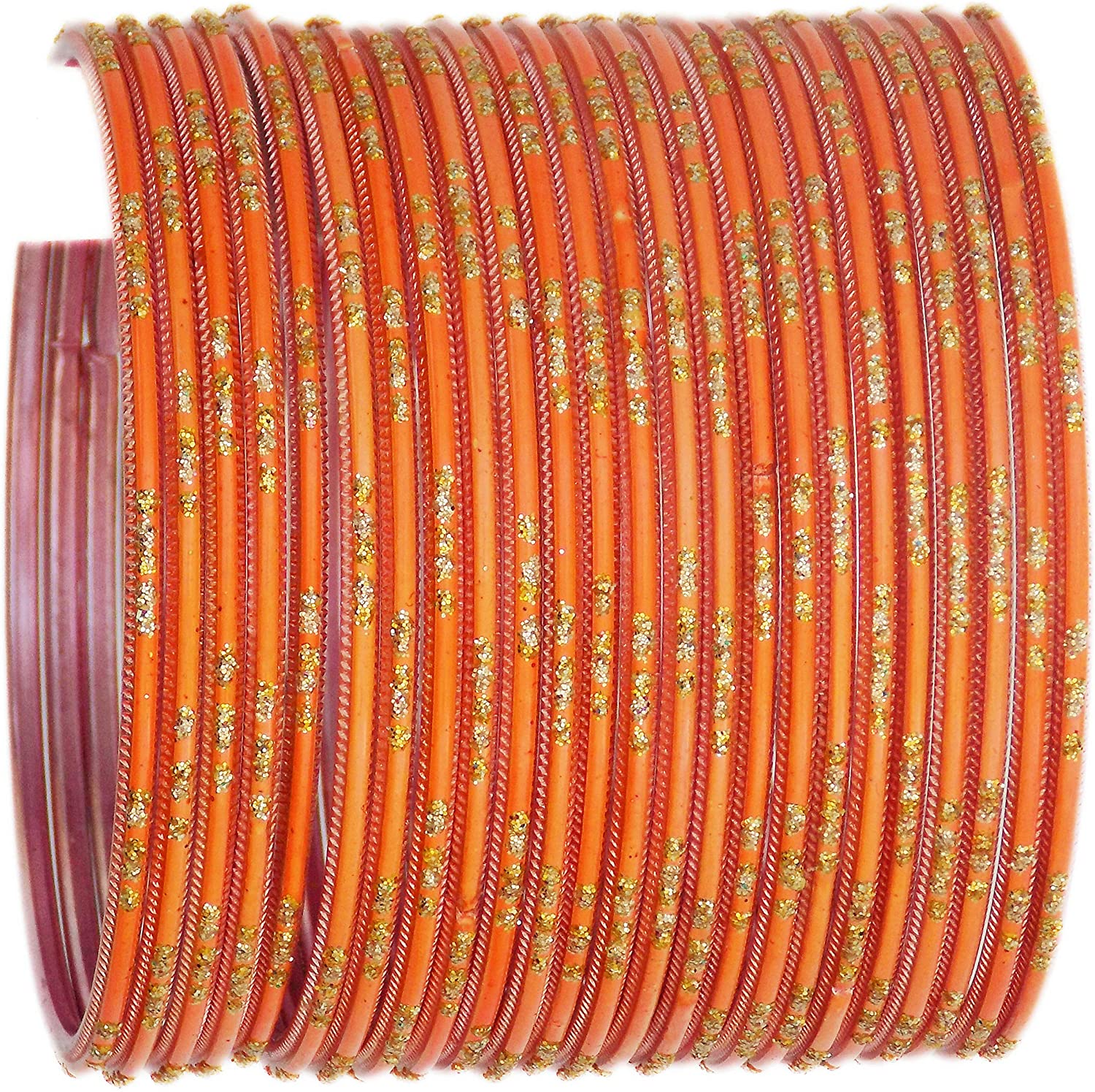 JD'Z COLLECTION Indian Costume Bollywood Jewelry Plain Metal Bangles Set Jewelry Multi Colors Bangles Set for Women