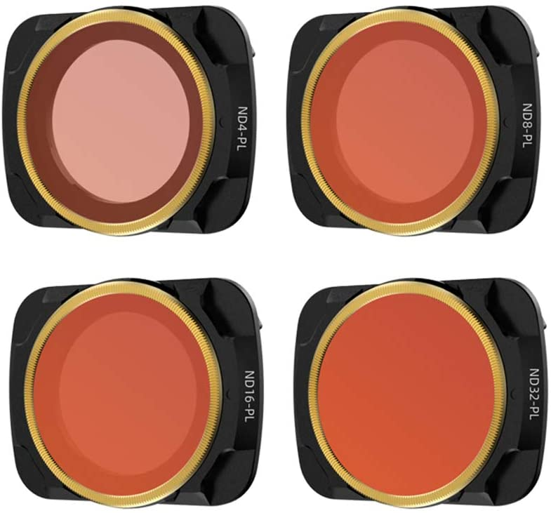 Xingsiyue ND4/PL+ND8/PL+ND16/PL+ND32/PL Lens Ultra Slim Optical Glass Filters for DJI Mavic Air 2 Drone
