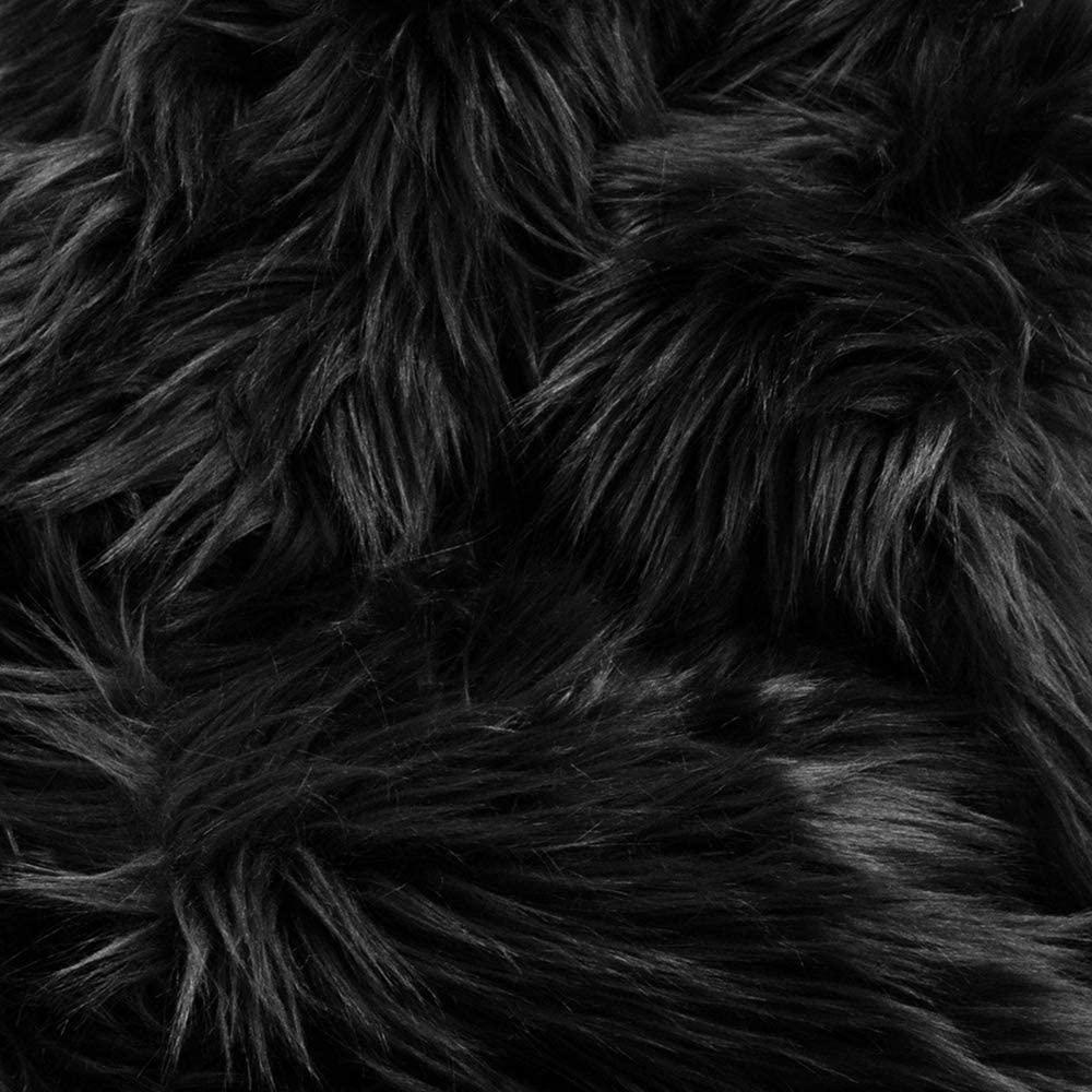 Barcelonetta   Half Yard Faux Fur   18 X 60 Inch   Craft Supply, Costume, Decoration (Black)