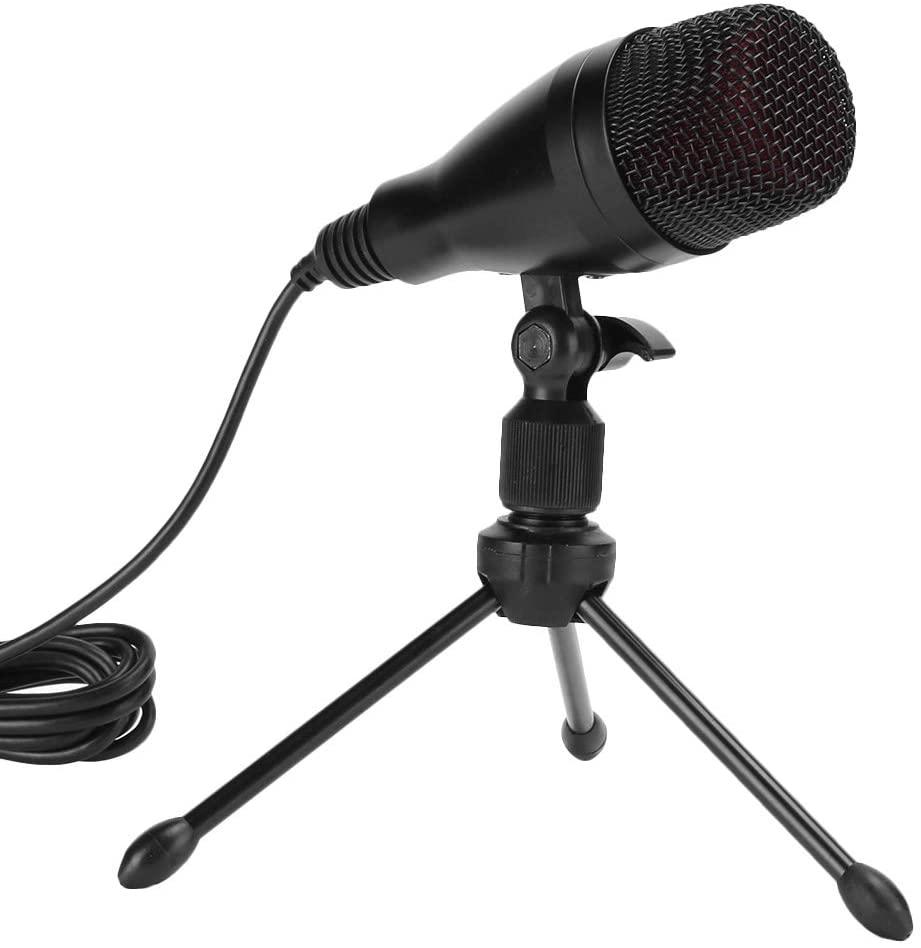 Hilitand USB Desktop Microphone, Universal Mini Studio Condenser Microphone Gaming Mic for PC Laptop Computer