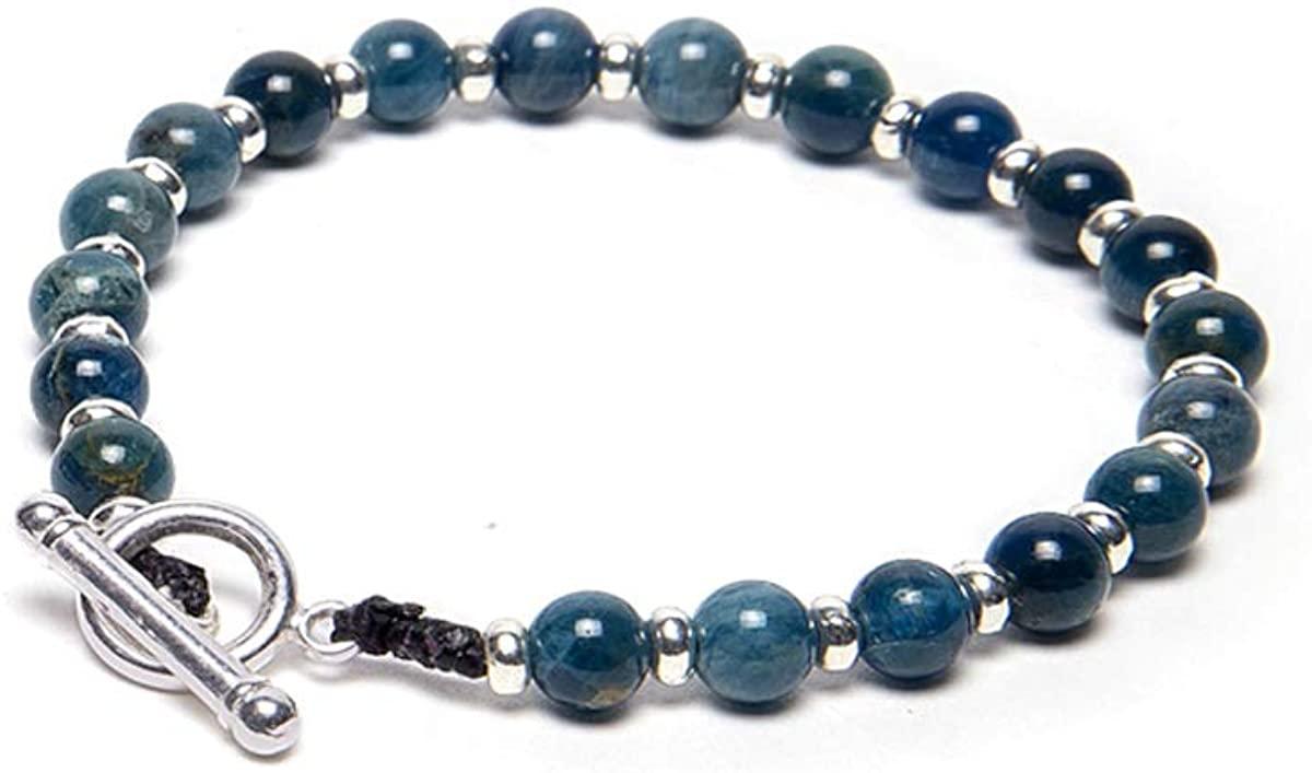 Vestopazzo Blue Stones Men's Bracelet Bar Closing