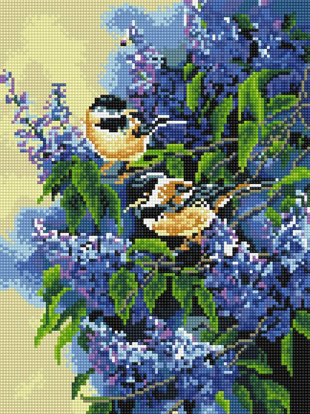 5D Diamond Painting Kit, DIY Diamond Painting Kits for Adults, Full Drill Paints Happiness Birds for Home Wall Decor