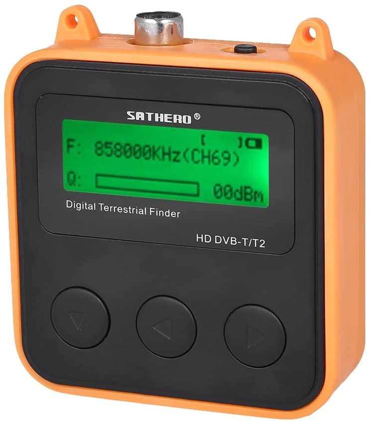 Docooler SH-110HD Terrestrial Signal Finder Meter Smallest Fastest DVB-T DVB-T2 HD Digital TV Signal Finder Receiver LCD Dispaly High Capacity Battery