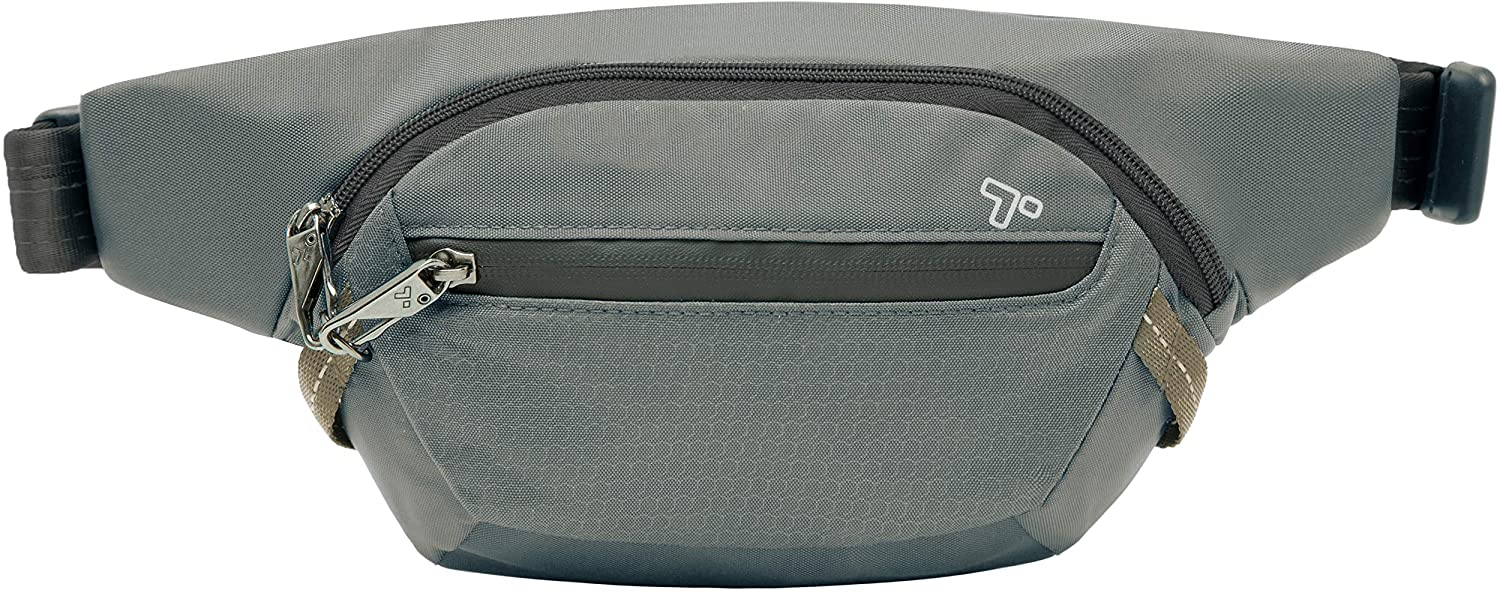 Travelon Anti-Theft Active Waist Pack, Charcoal, One Size