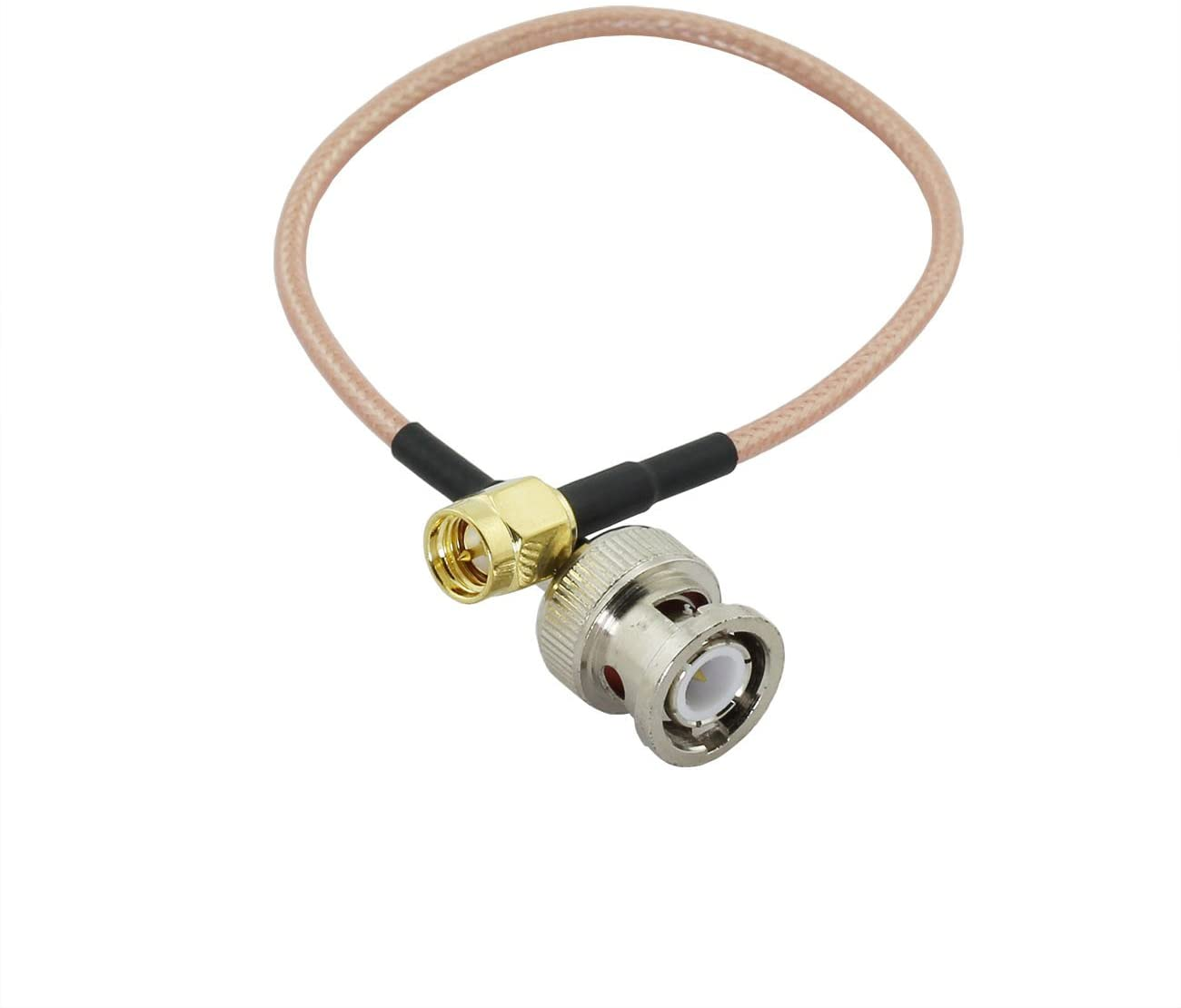 Maxmoral 1PCS SMA-BNC RG316 Coax Cable BNC Male Plug to SMA Male Jack RF Coaxial Connector Jumper Pigtail Extender Cable 20cm