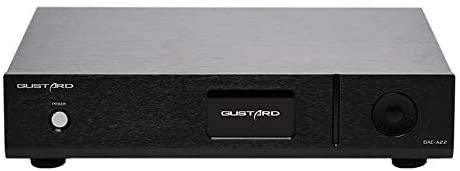 GUSTARD DAC-A22 DAC Dual AK4499 Bluetooth XMOS XU208 PCM768K DSD512 Native Balanced Decoder (Black, with USB)