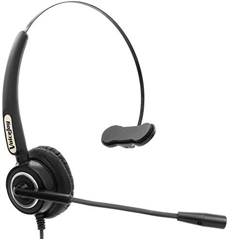 RJ9 Plug Headset with mic for Avaya 2400 4600 Series,NEC Aspire Dterm Nortel Norstar Meridian Plantronics ShoreTel Siemens ROLM Packet8 etc