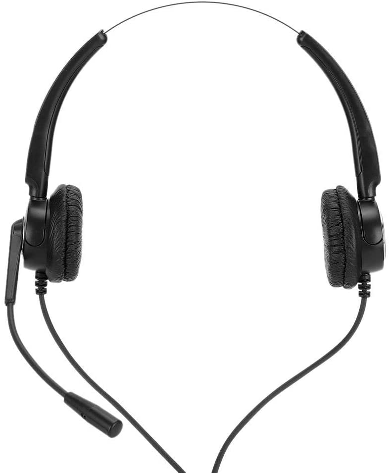 AMONIDA 510D USB Computer Earphone Service Stereo Headset Telephone Operator Headset Adjustable PC Headphone Comfortable Communicate