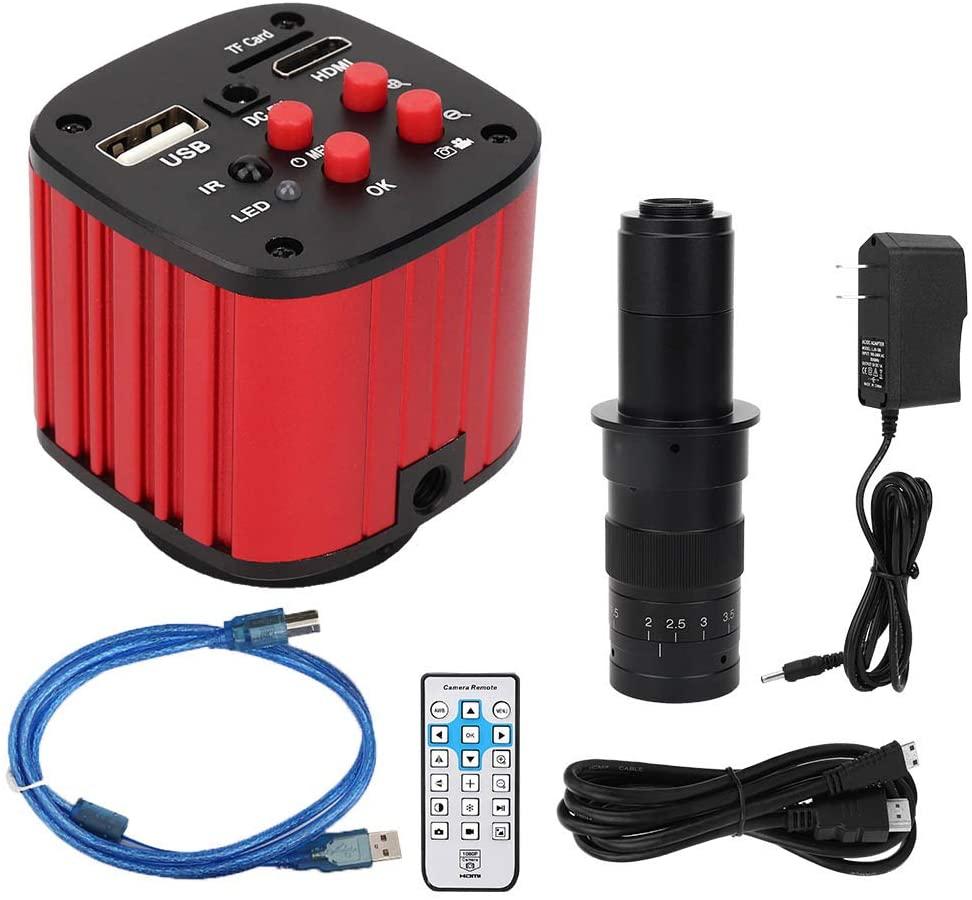 HDMI Microscope Camera USB Microscope 1080P Camera Video Recorder with Remote Control for CPU PCB SMD Repair Welding