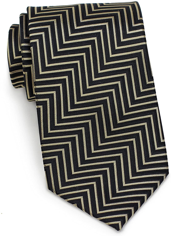 Bows-N-Ties Mens Necktie Luxe Woven Silk Satin Ties 3.25 Inches