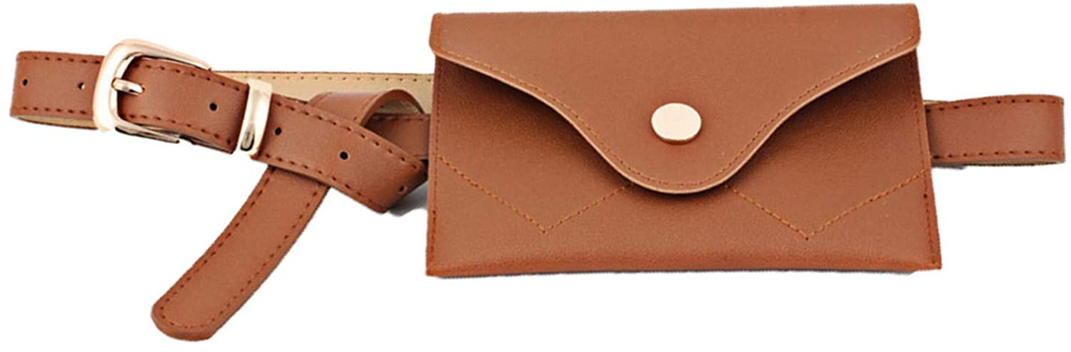Soluo Womens Leather Belt Fanny Pack with Removable Belts Ladies Casual Waist Pack Purse Cash Phone Bag