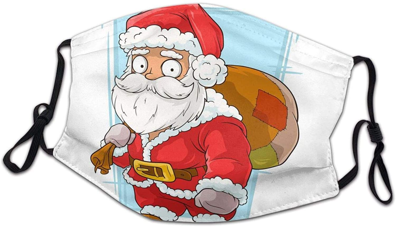 BTVE Christmas Children's Dust Ma-sk Reusable Mouth Facial Decorations Outdoor Face Bandanas for Kids Boys Girls 5 PCS Black