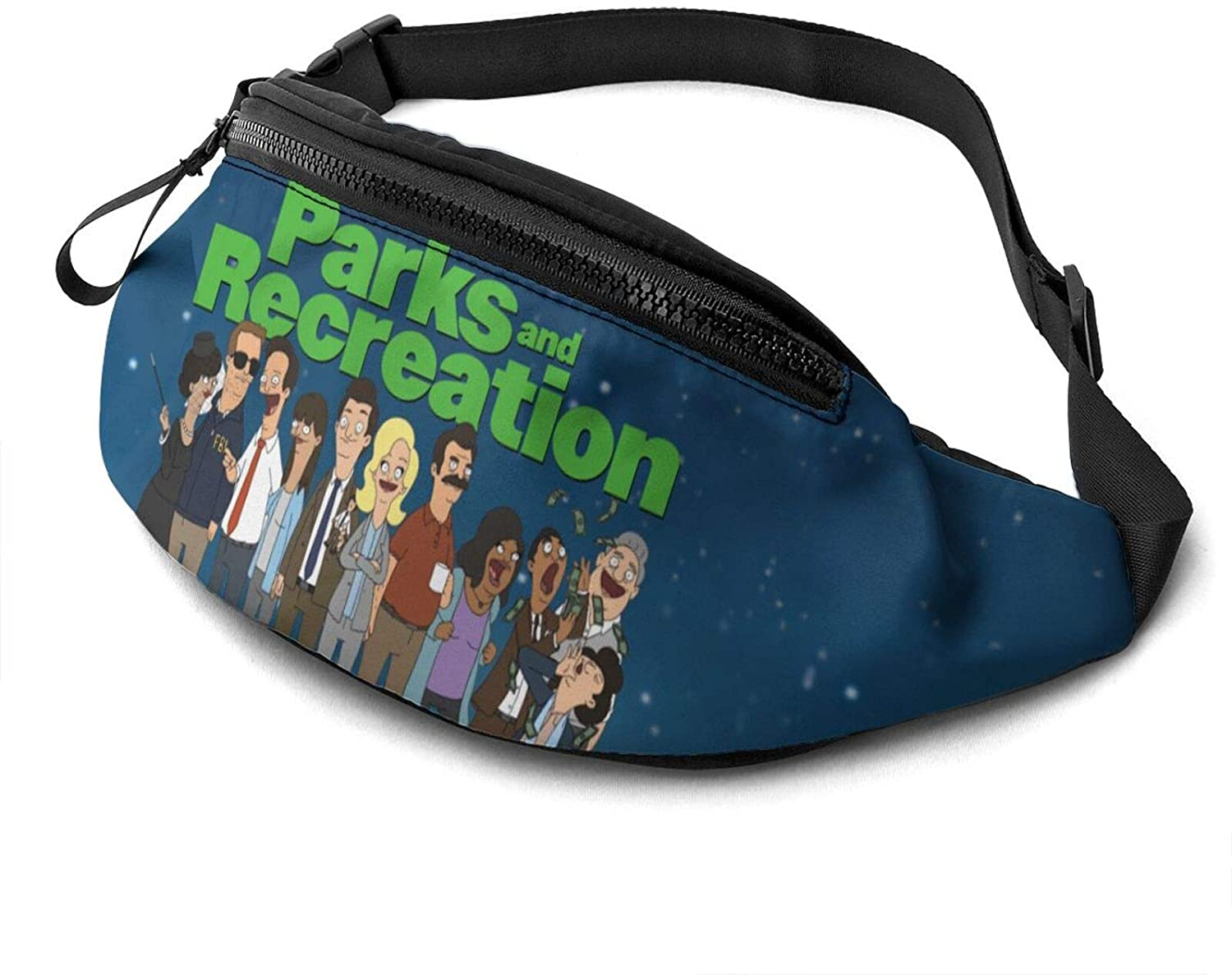 ATSH Parks and Recreation Fanny Pack Running Waist Pack Bag Casual Super Lightweight Fanny Pack for Unisex