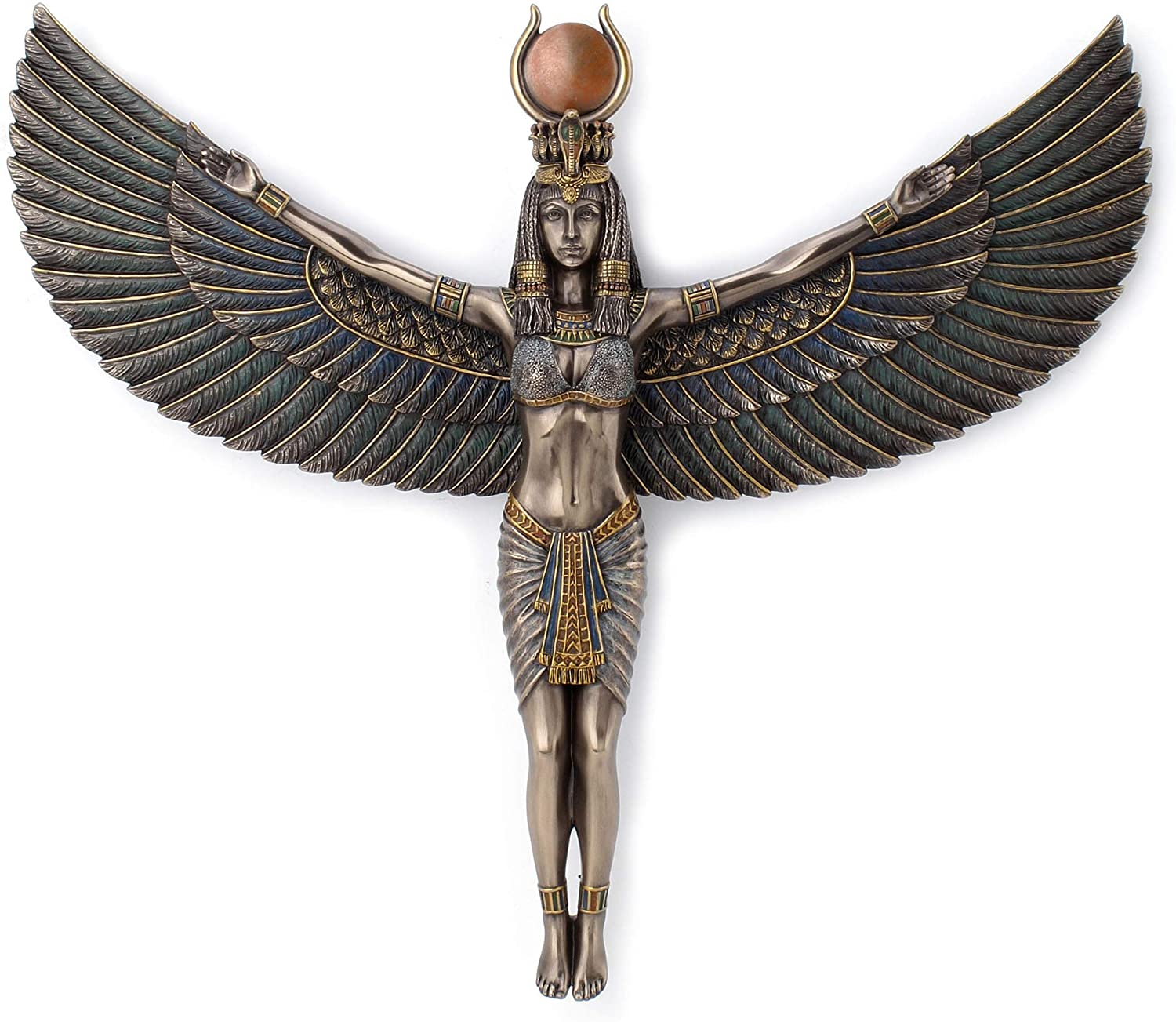 Veronese Design Egyptian Goddess Isis Spreading Wings Wall Plaque 11.8