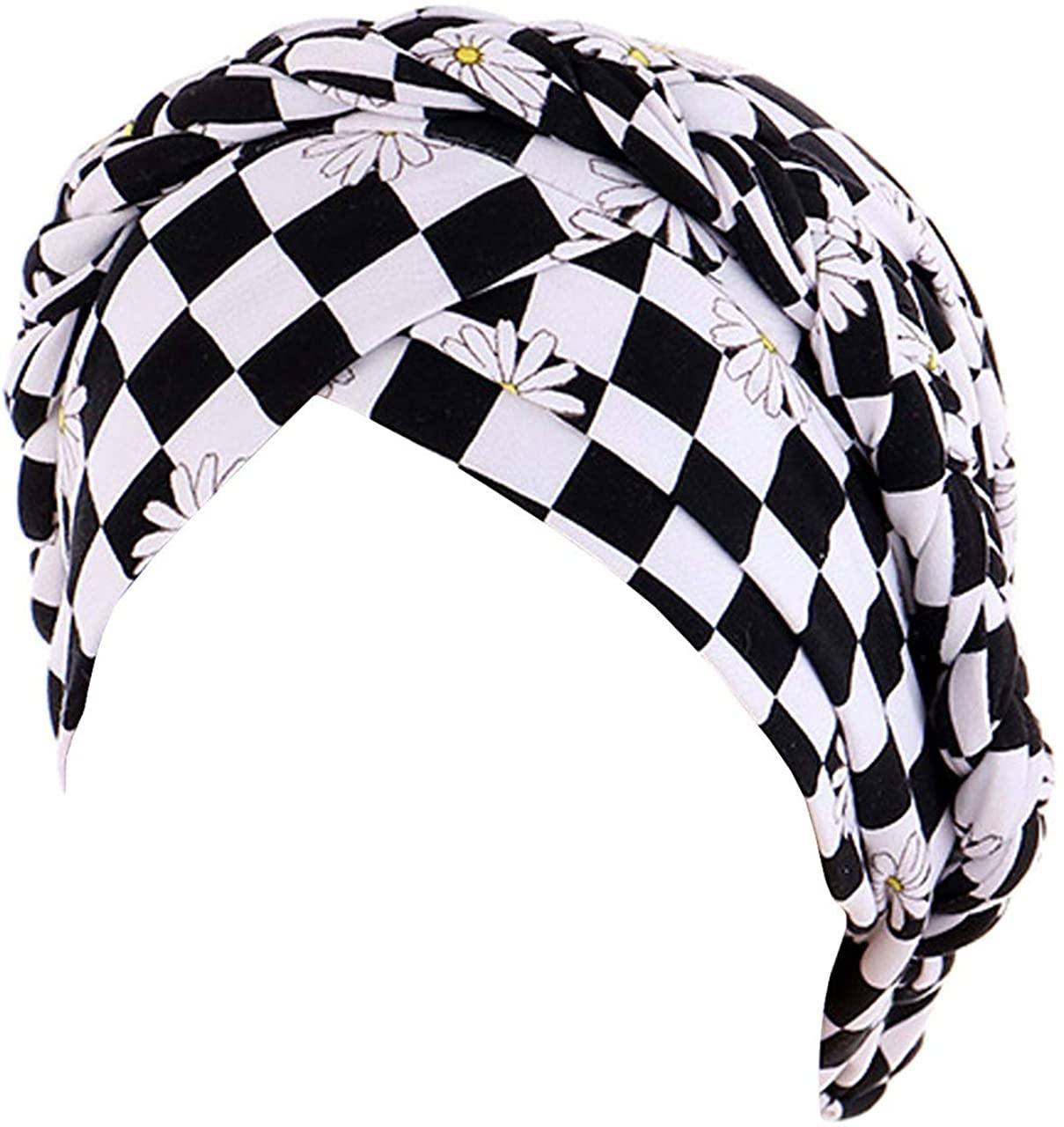 Biruil Chemo Cancer Braid Turban Cap Ethnic Bohemia Twisted Hair Cover Wrap Turban Headwear