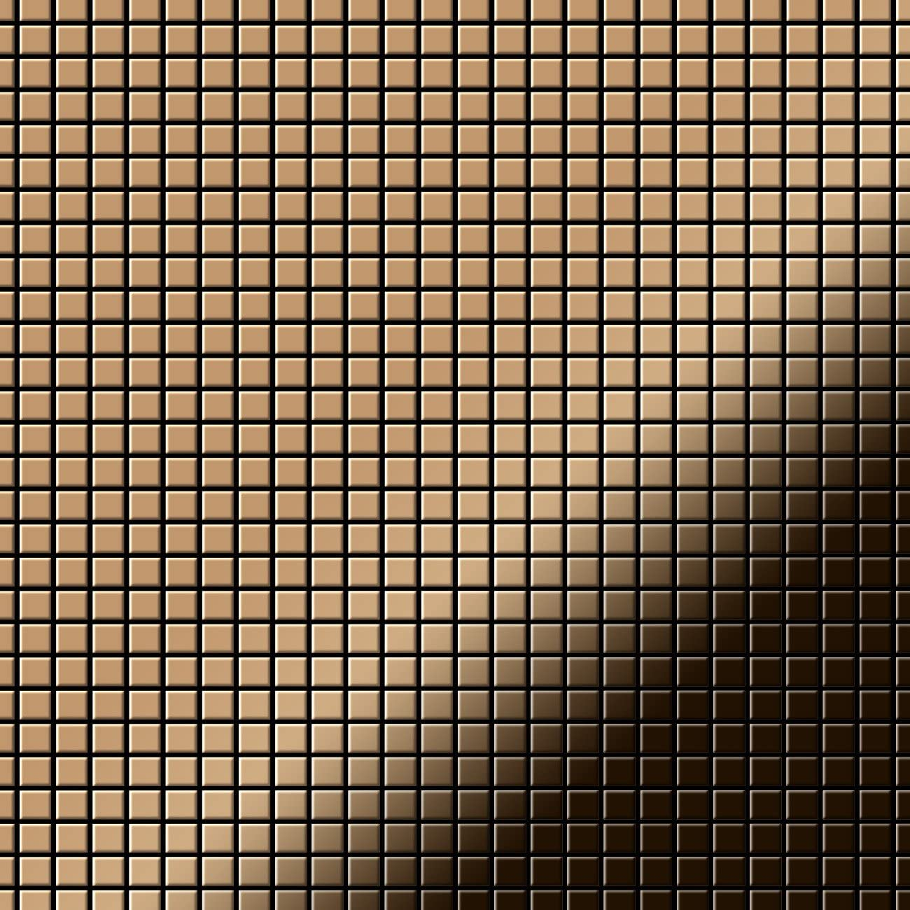 Mosaic Tile massiv Metal Titanium Amber Mirror Copper 1.6mm Thick ALLOY Glomesh-Ti-AM