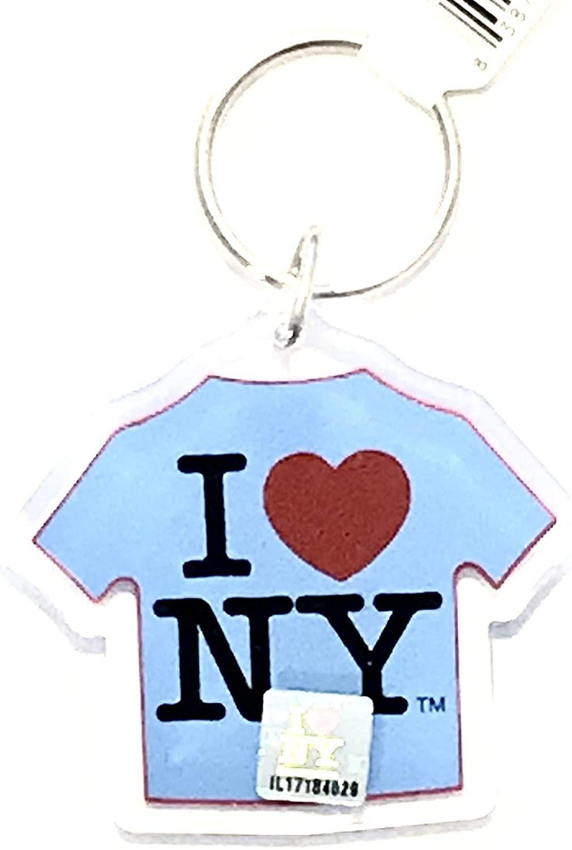 I Love NY Blue T-Shirt Keychain